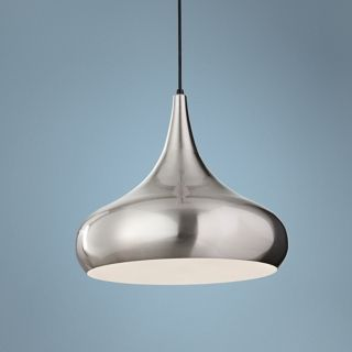 "Murray Feiss Beso 18"" Wide Brushed Steel Pendant Light   #X4100"