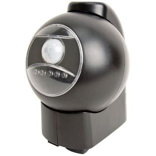 Black Battery Powered Motion Activated Outdoor LED Light   #T4808