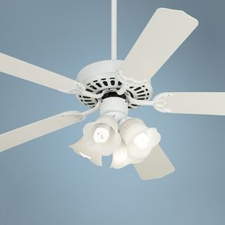 "52"" White Knight White Ceiling Fan with Light Kit   #26847 M8161 88760"