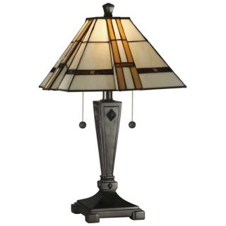 Dale Tiffany Atherton Mica Bronze Table Lamp   #X2870