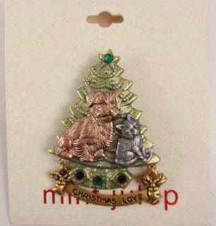 Mint Julep Christmas Love Dog Cat Xmas Tree Pin