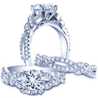00 Ct Round Diamond Engagement Anniversary Bridal Ring Band Set Gold