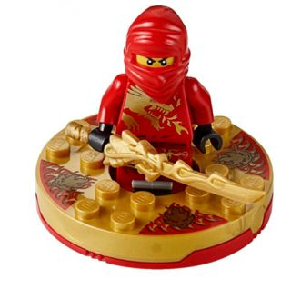 LEGO NEW Ninjago Red Ninja KAI DX Dragon Minifigure W/ Dragon Sword