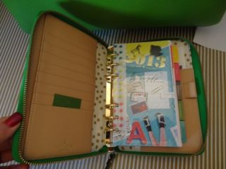 Kate Spade 2013 Wellesley Emerald Green Leather Personal Planner