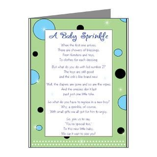 Gifts  Baby Note Cards  Green & Blue Sprinkle Note Cards (20
