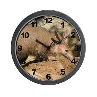 view larger wall clock aardvark $ 30 98 qty availability product