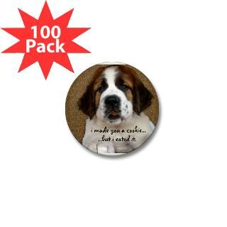 St Bernard Puppy Cookie  Irony Design Fun Shop   Humorous & Funny T