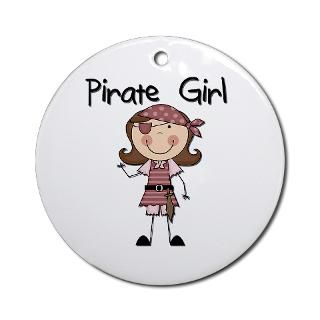 Pirate Girl Christmas Ornaments  Unique Designs