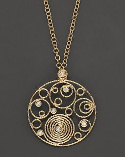Roberto Coin 18 Kt. Yellow Gold and Diamond Mauresque Pendant