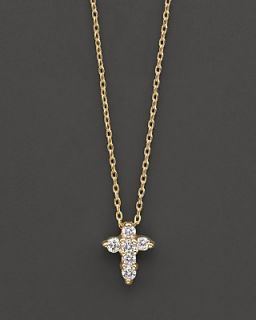 Roberto Coin 18 Kt. Yellow Gold Small Cross Necklace