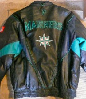 Proplayer Official MLB Seattle Mariners Leather Jacket GD L Free