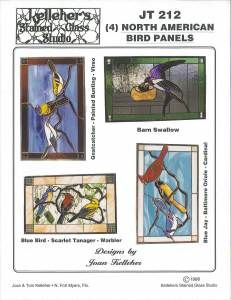 Stained Glass Supplies North American Bird Panels