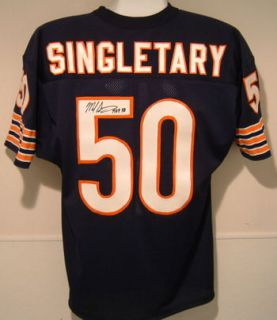 Mike Singletary Autographed Signed Chicago Bears Blue Jersey w HOF 98