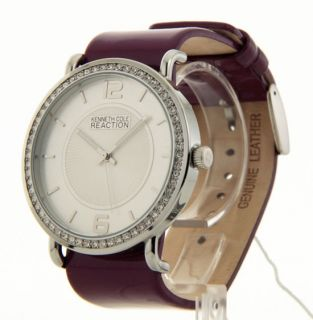 Kenneth Cole White Black Bands Womens RK6008 Leather New Watch