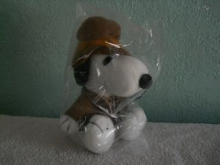 MetLife Indiana Jones Snoopy Dog Plush Doll Peanuts