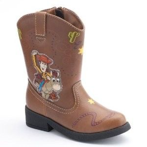 Toy Story LIGHT UP Cowboy BOOTS Woody Rodeo Halloween Costume Shoes
