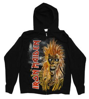 Iron Maiden Killers Album Cover Rock Band Zip Up Hoodie Hooded