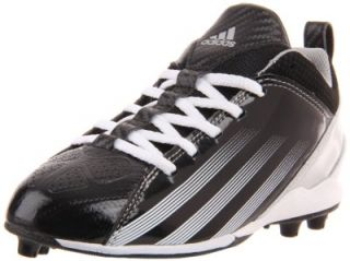 Adidas Kids Blast 3 MD 5 8 J Football Cleats Black White Silver Size