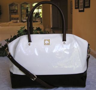 Kate Spade Kingsbury Park Patent Leather Large Catalina Bag Purse