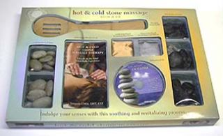 Hot and Cold Stone Massage Kit Set with Instructional Book and