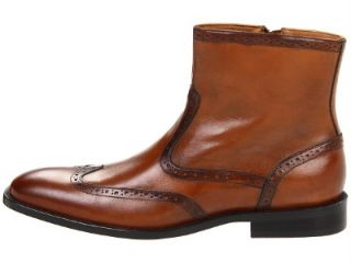 Johnston Murphy Knowland Mens Tan Casual Dress Wing Tip Boots Shoes