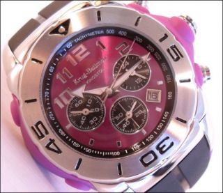 Mens Krug Baumen Kingston Purple Tachymeter Chronograph Sports Watch