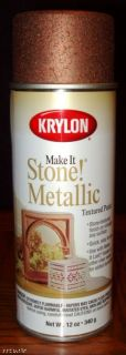 Krylon Make It Stone Textured Spray Paint Metal Copper