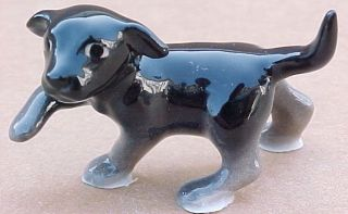 Hagen Renaker Black Lab Pup Dog Labrador Puppy Retriever Figurine