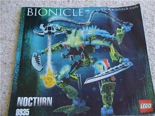 Lego Bionicle Boxed Nocturn Figure Set 8934 Instructions 100 Complete