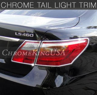 2010 2012 Lexus LS460 LS 460 Chrome Tail Lights Trim Rear Lamps Covers