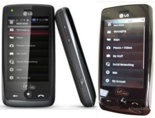 Virgin Mobile Rumor Touch LG VM510 Black Slider Touch QWERTY  GPS
