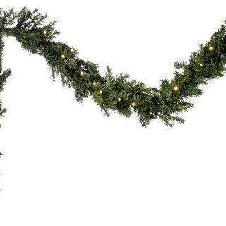 Bethlehem Lights Solutions Large 9 Classic Pine Garland with Clear