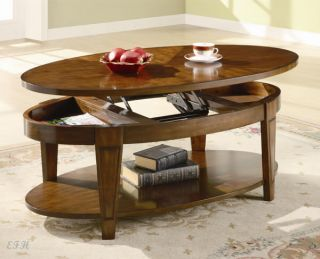 Canton Rich Cherry Wood Finish Lift Top Coffee Table