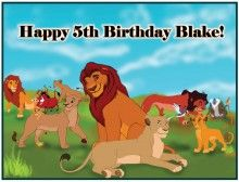 Lion King 2 Edible Cake Icing Image Topper Frosting Birthday Party