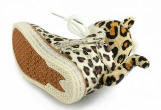 Hot Girl Little Leopard Head Tail Teddy Bear Wing Boys Shoes Toddler