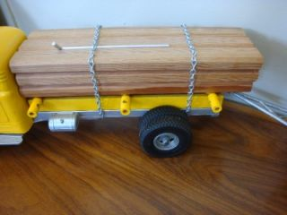1950s Smith Miller Smitty Toys B Mack Log Hauler Truck Trailer
