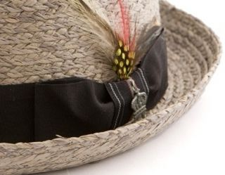 Christys Crown Lorimer Raffia Straw Pork Pie Hat 3802