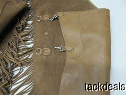 USA Hand Made Cowboy Chinks by L Proctor Plain Glove Soft Leather XL