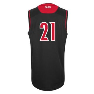 Louisville Cardinals Youth Adidas Black 21 Replica Basketball Jersey