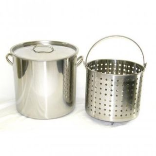 Stainless Steel Stock Pot Deep Steamer Boil Basket Beer Brew