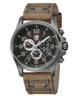 Luminox 1893 Atacama Field Chronograph Brown Leather Mens Watch 1893