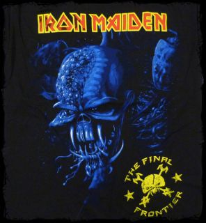 Iron Maiden   Final Frontier Blue Cover t shirt   Official   FAST SHIP
