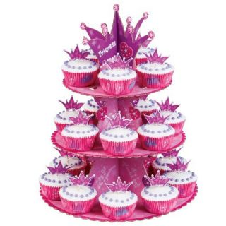 Wilton Princess Cupcake Stand Display Kit Dessert Tray Birthday Cake