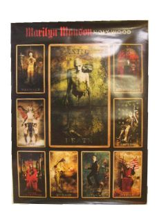 Marilyn Manson Poster Hollywood Tarot Cards