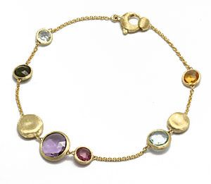 Marco Bicego  Jaipur  Yellow Gold with Natural Stones Bracelet