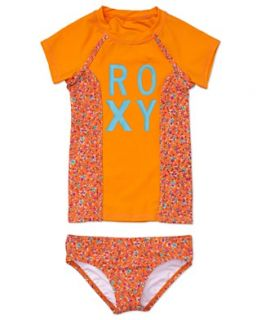 Roxy Kids Swimwear, Little Girls Floral Printed Two Piece Swimsuit