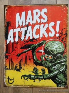 Large Mars Attacks Decorative Metal Wall Sign