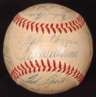1957 Boston Red Sox Team Signed Baseball 23 Signatures