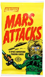 Mars Attacks Space Adventure Cards 1 Pack of Cards New