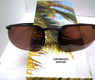Maui Jim KANAHA H409 02 gloss black frame hcl bronze polarized lens